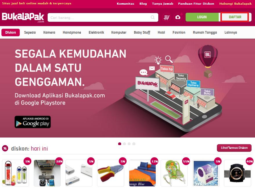 bukalapak, mendaftar, penjual, pembeli,marketplace, toko online