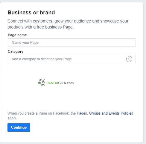 Mengatur nama fanspage dan kategori