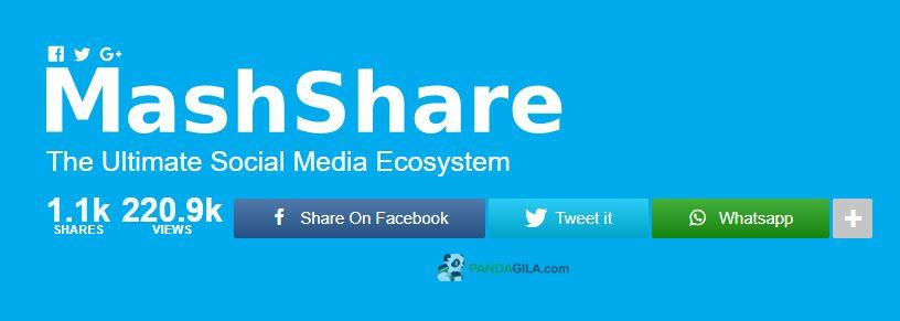 MashShare, plugin WordPress terbaik untuk sosial media