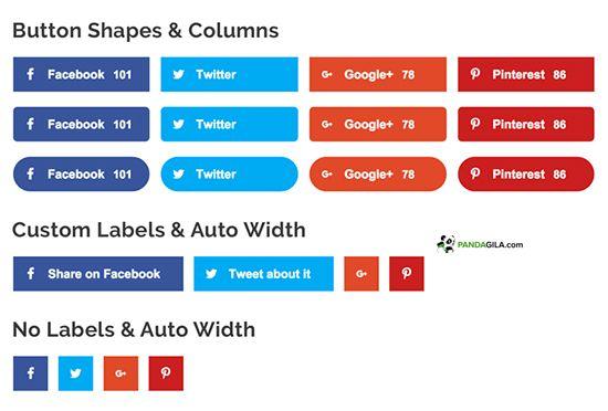 Plugin media sosial sharing, Social Pug