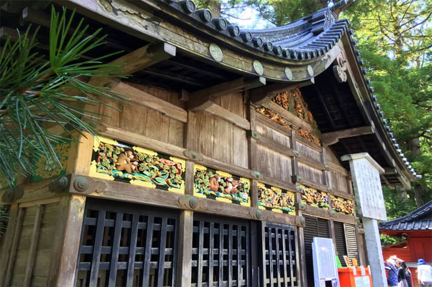 Ukiran Three Wise Monkey di Tosho-go