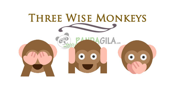Three Wise Monkeys,inspirasi,peribahasa kuno,Jepang,filosofi