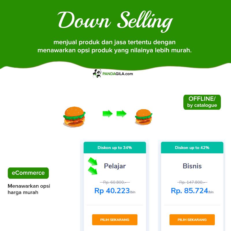 Down Selling untuk meningkatkan penjualan