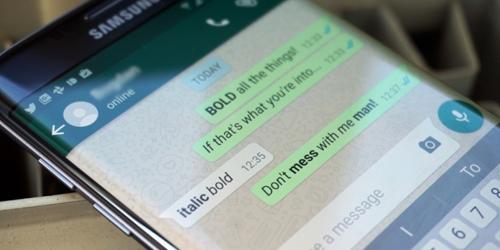 Membuat cetak tebal di WhatsApp