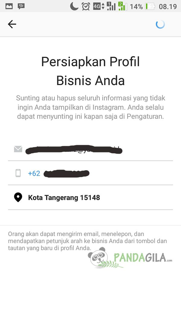 Step 5, Update informasi di Instagram Bisnis Anda