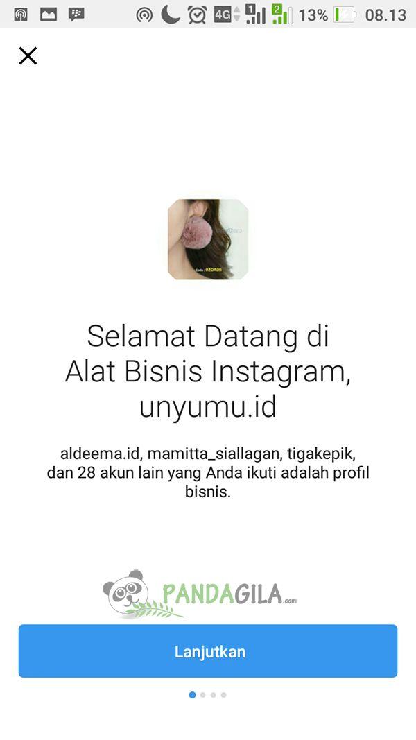Step 7, Anda berhasil beralih dari Instagram Pribadi ke Instagram Bisnis