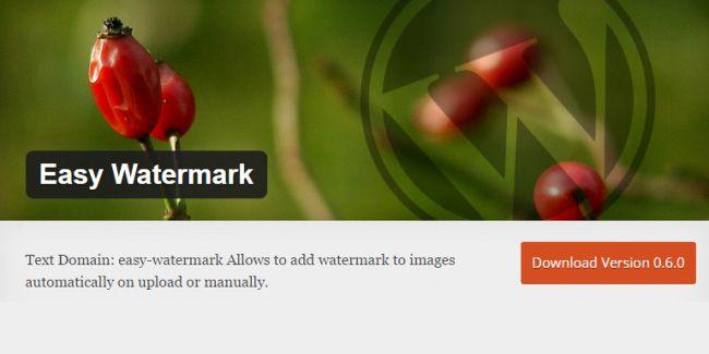 Easy Watermark untuk memberi watermark otomatis di WordPress