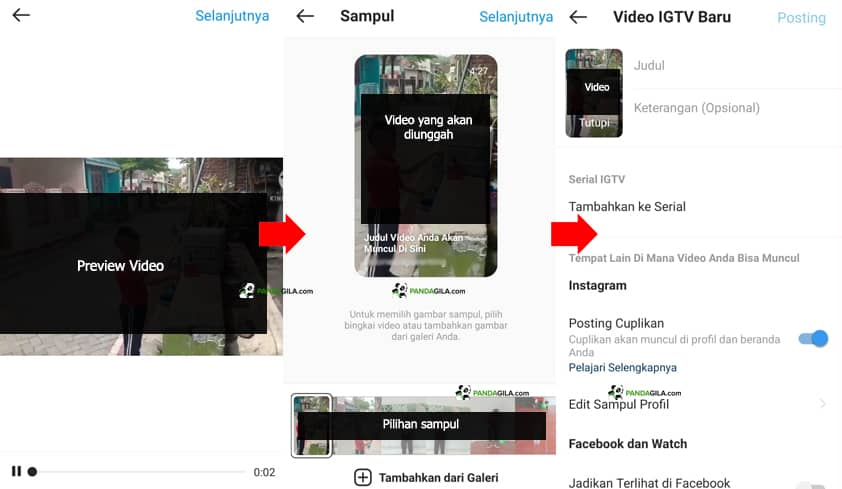 Cara Upload video IGTV Step 2