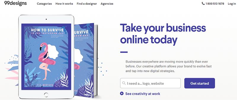99Design, situs freelance untuk desainer