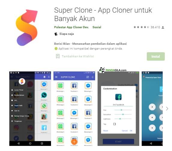 Aplikasi Super Clone