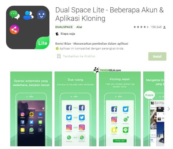 Aplikasi Kloning : Dual Space Lite