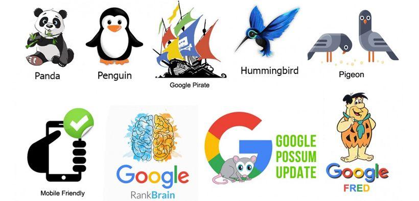 Pembaruan algoritma Google dari waktu ke waktu