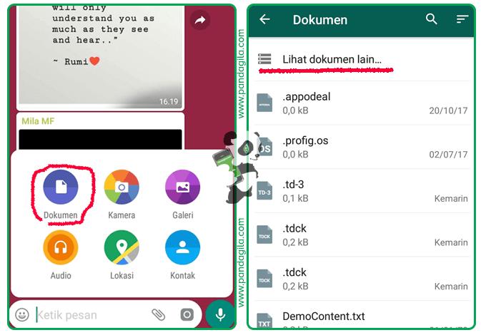 Cara mengirim foto dan video kualitas tinggi WhatsApp