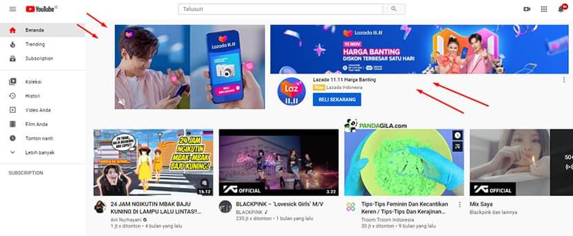 Contoh iklan dalam media online