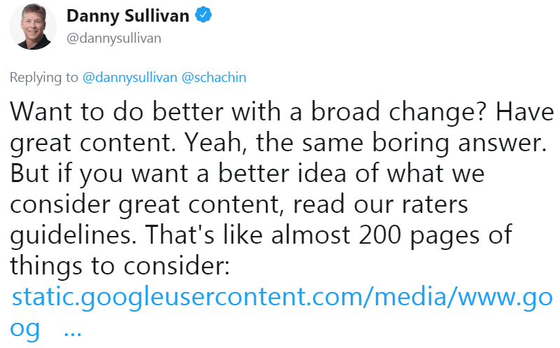 Tweet Danny Sullivan