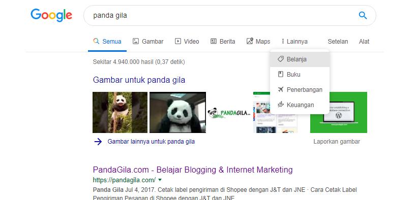 Google mengubah tampilan pencarian desktop
