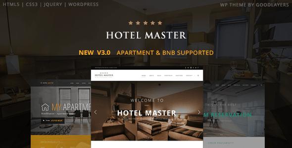 Hotel Master, tema WordPress terbaik untuk bisnis hotel