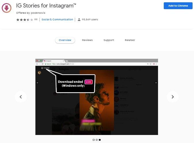 Cara menggunakan Chrome IG Story untuk menyimpan story orang lain