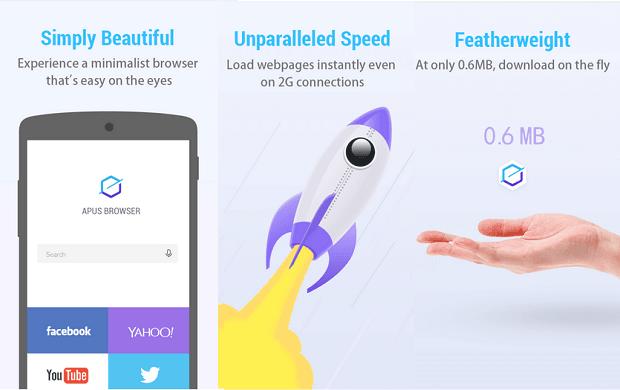 Apus Browser, aplikasi browser cepat dan populer