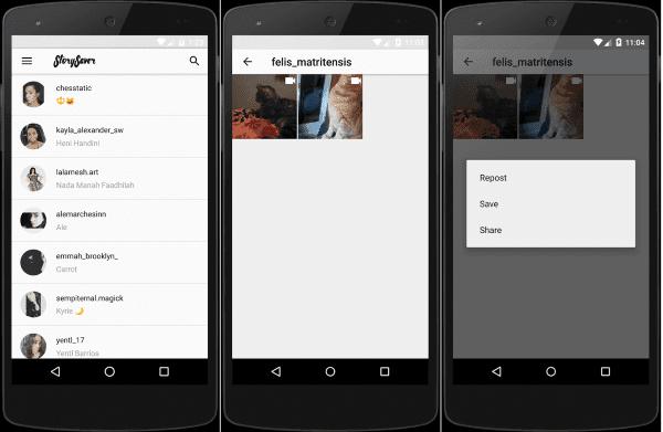Cara menyimpan story orang dengan Story Saver for Instagram