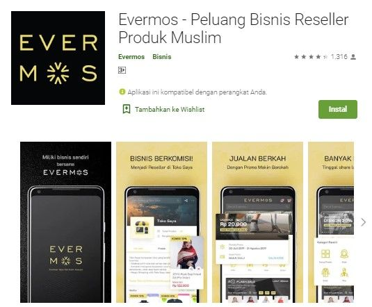 Mobile apps Evermos
