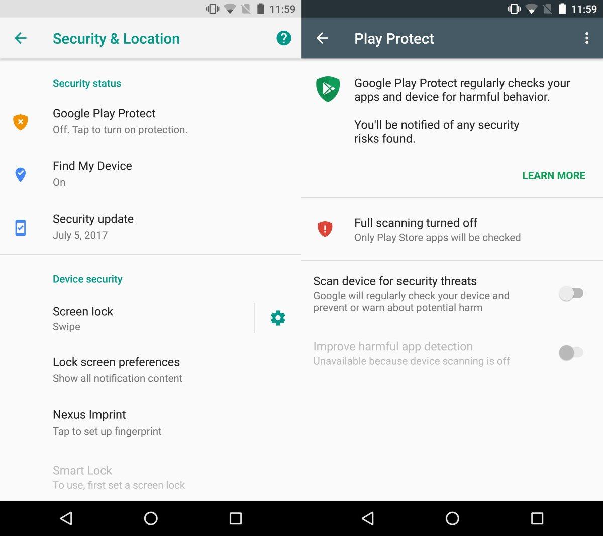 Play Protect, fitur keamanan di Google Play Store