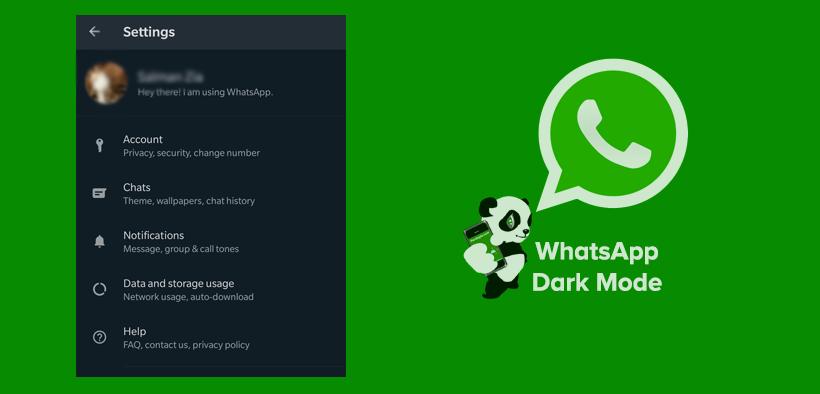 Cara Menggunakan WhatsApp Dark Mode