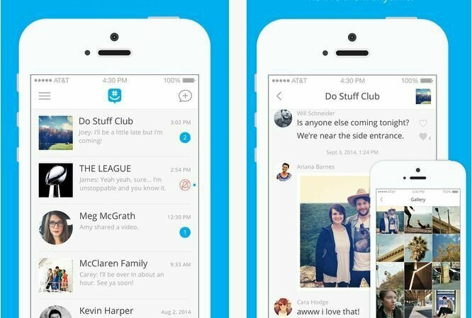 Aplikasi chat berbasis grup, GroupMe