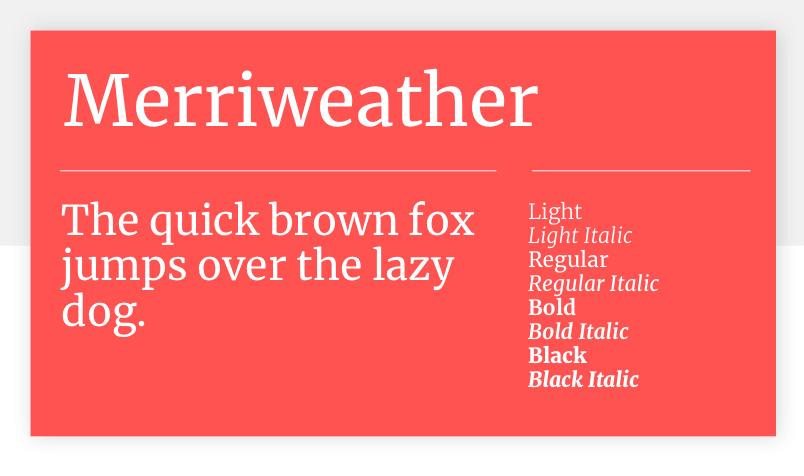 Google font Merriweather