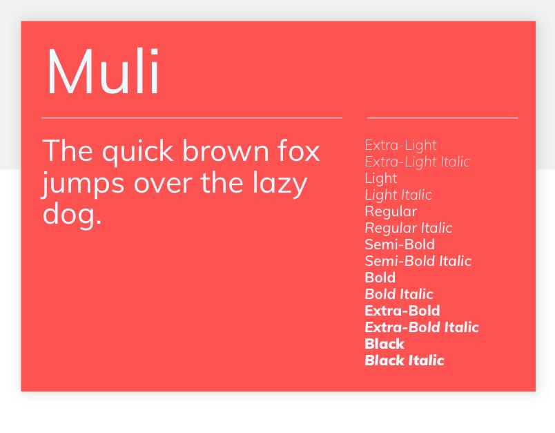 Google font Muli