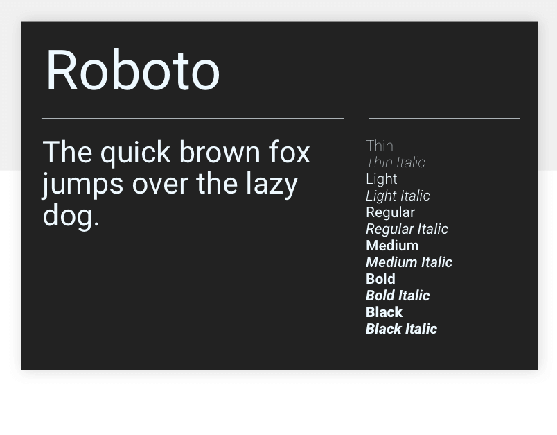 Google fonts Roboto