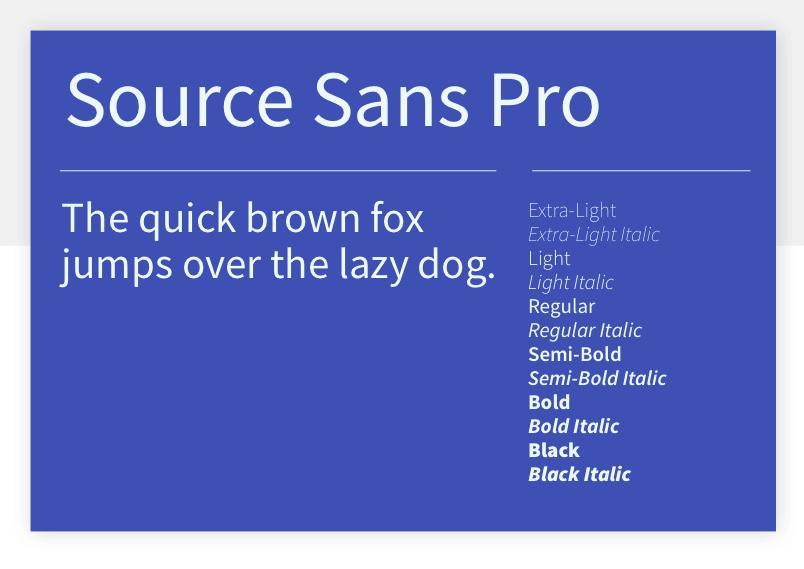Google font Source Sans Pro