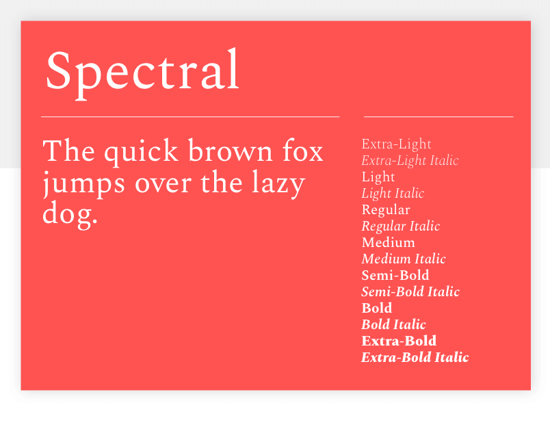 Google font Spectral