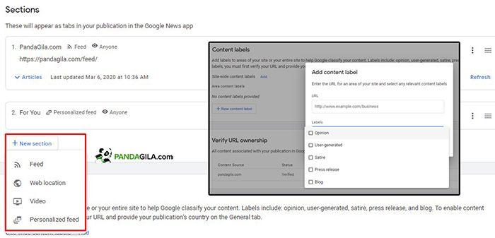 Pengaturan konten di Google News