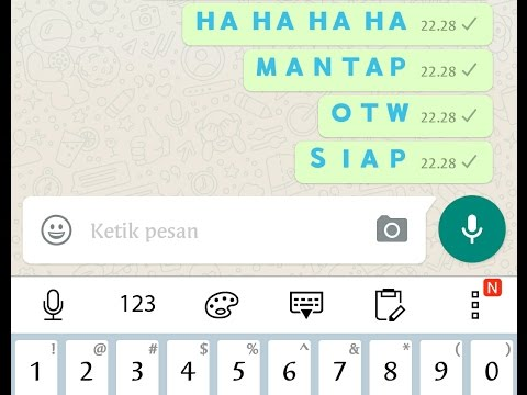 Cara membuat teks berwarna di WhatsApp