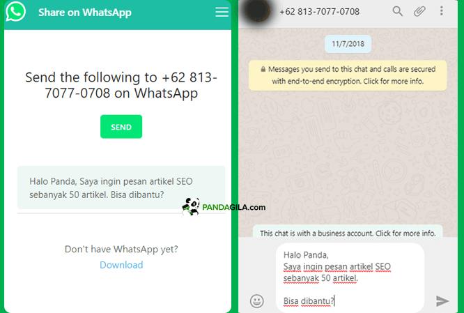 Cara membuat link WhatsApp dengan kustomisasi teks