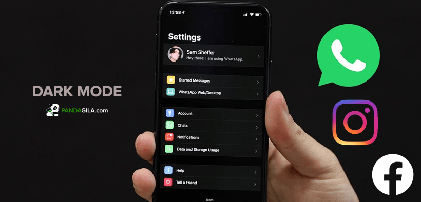 Cara mengaktifkan dark mode WhatsApp, Instagram & Facebook