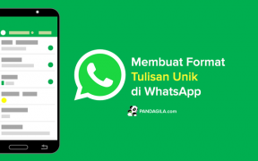 Cara membuat format tulisan unik di WhatsApp