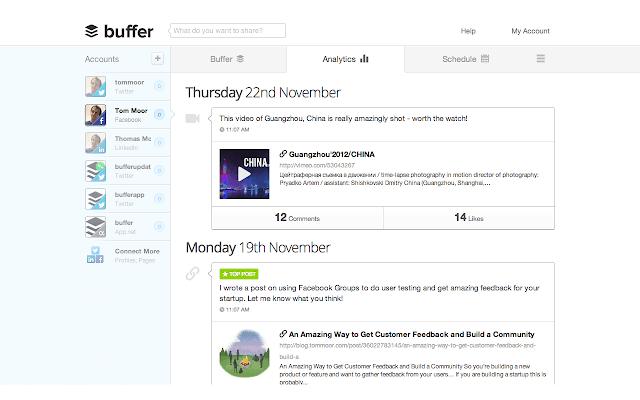 Buffer, ekstensi Chrome untuk managemen konten