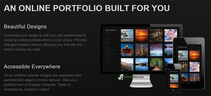 Crevado, website untuk portofolio online