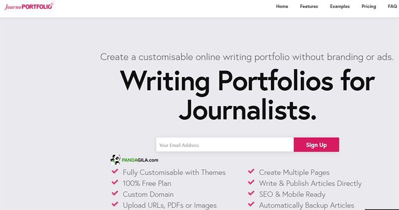 Journo Portofolio, situs portofolio online