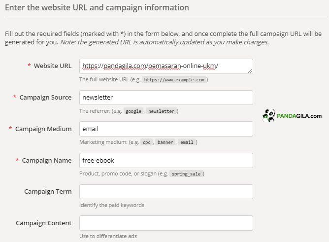 Cara membuat link UTM - Parameter