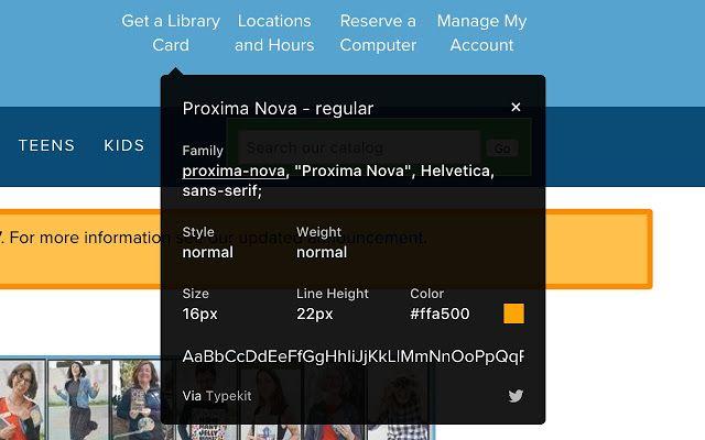 Whatfont membantu mengenali jenis font website