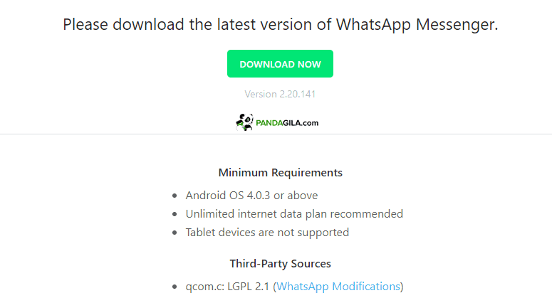 APK Whatsapp Android