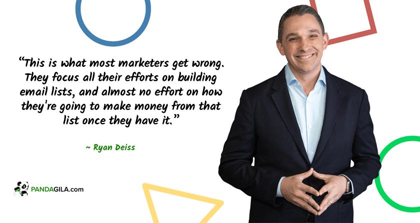 Ryan Deiss, praktisi email marketing