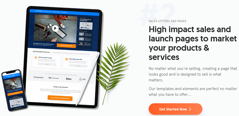 OptimizePress, landing page plugin