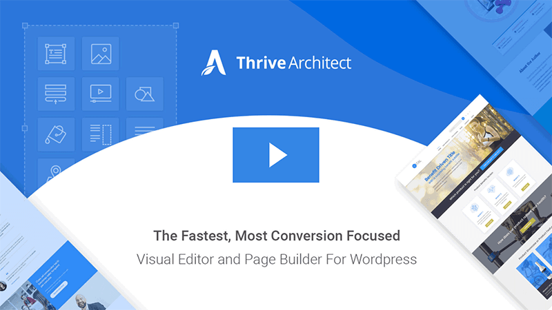 Thrive Architect plugin landing page
