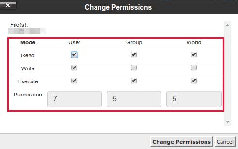 Cara merubah permission 755