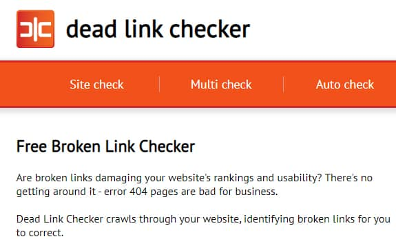 Dead link checker untuk cek broken link
