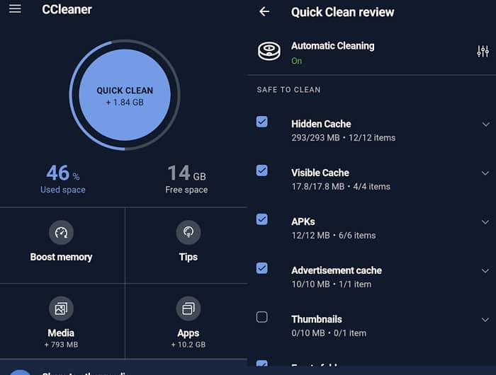 Aplikasi CCleaner untuk membersihkan sampah di Android